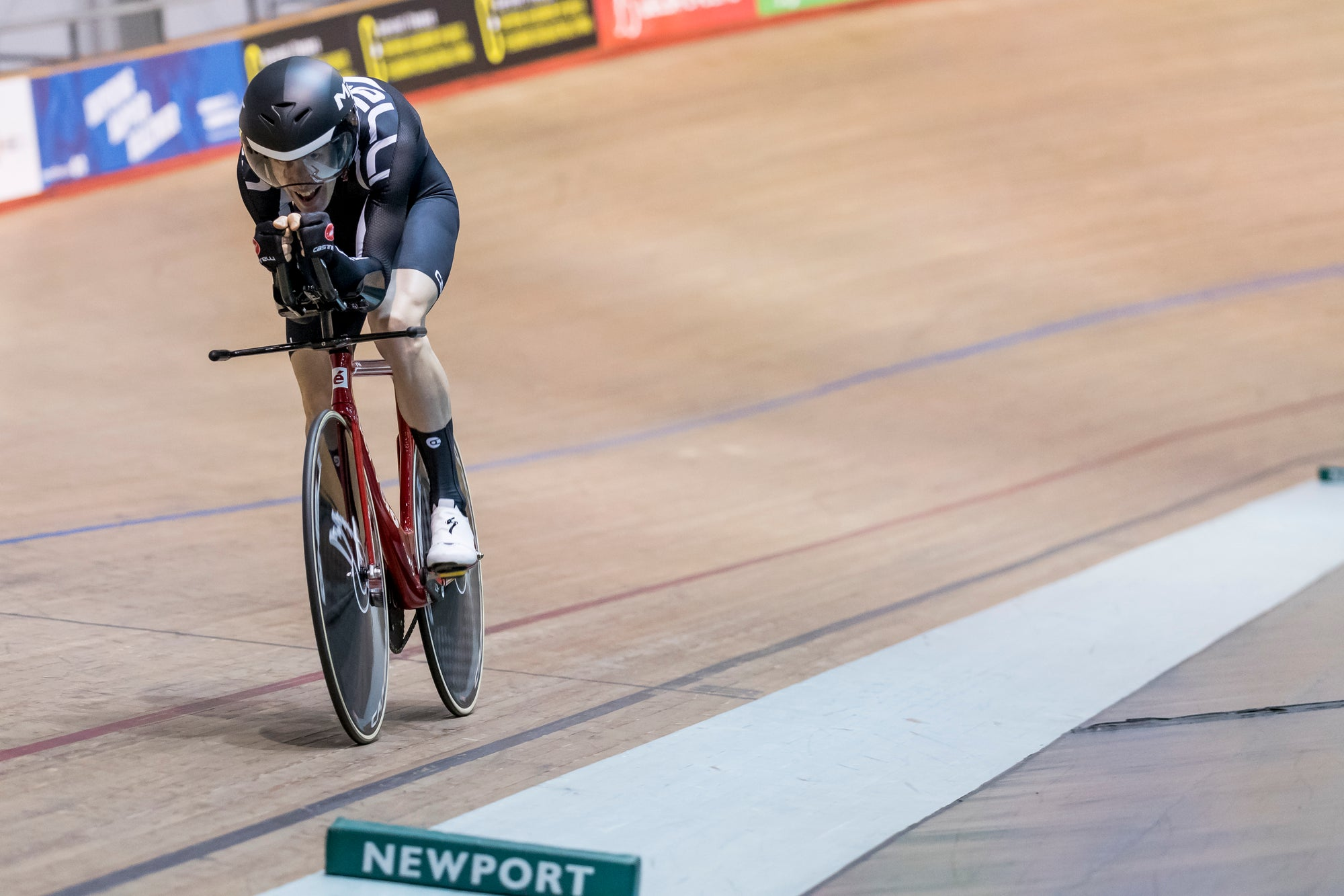 Racing the Individual Pursuit at the Masters National Track Championships 2019. Photo credit to Andy Whitehouse.
