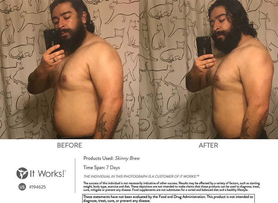 Before & After Skinny Brew