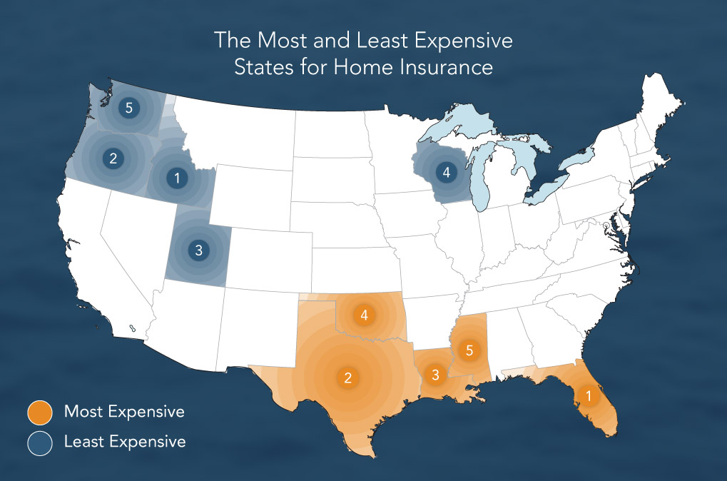 According To The National Ociation Of Insurance Commissioners Five States With Highest Homeowners Costs Are