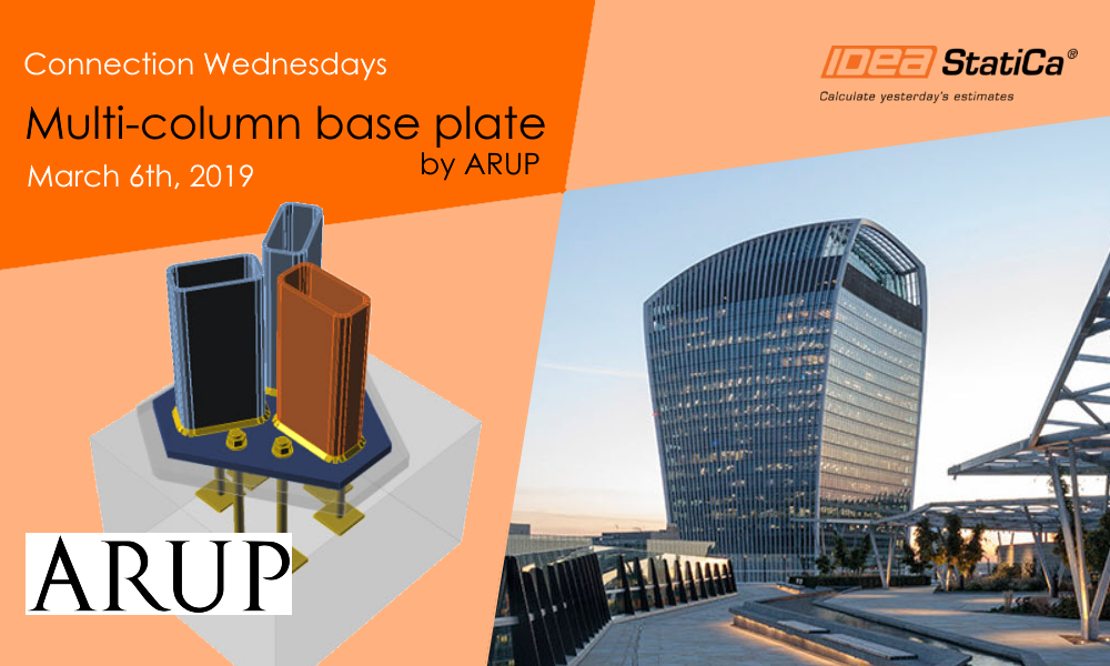 Connection Wednesdays – Multi-column base plate by ARUP