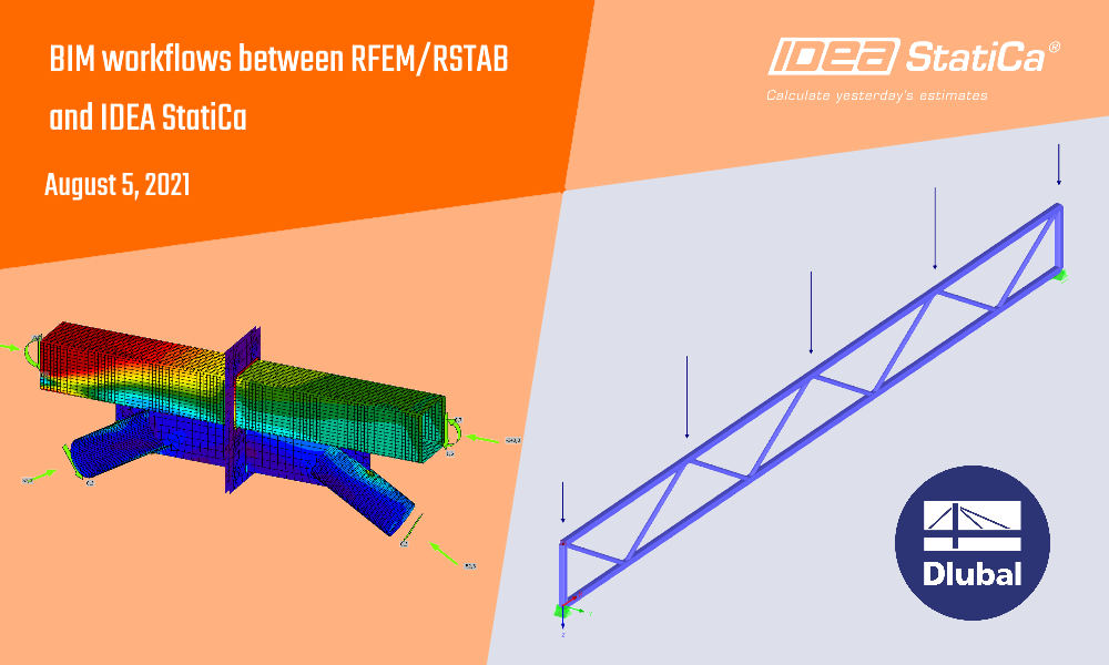 BIM link workflows between RFEM/RSTAB and IDEA StatiCa