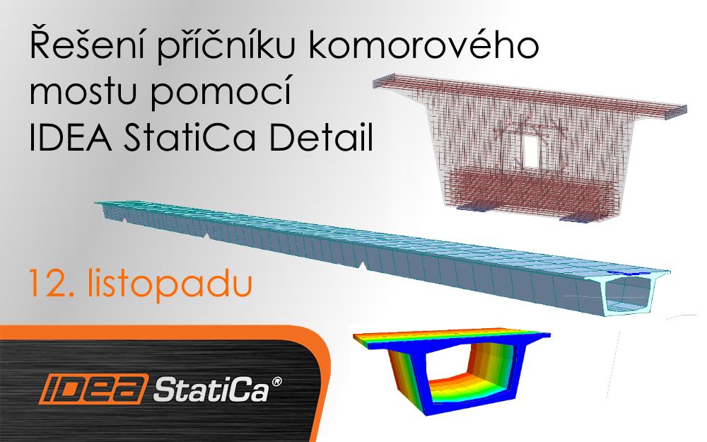 Řešení příčníku komorového mostu pomocí IDEA StatiCa Detail