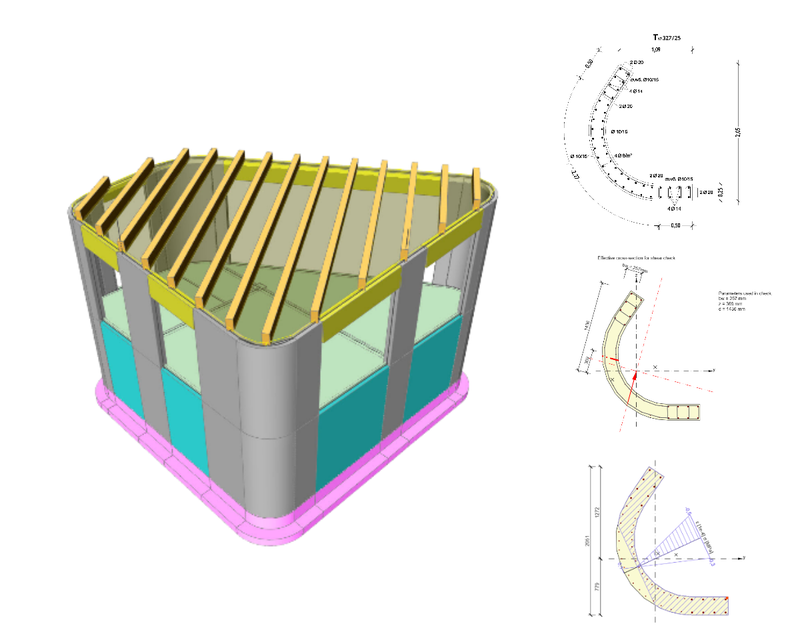 Curved shear wall design, United Kingdom