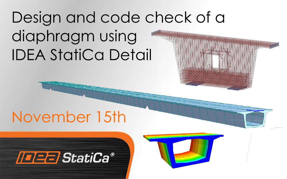 Design and code check of a diaphragm using IDEA StatiCa Detail