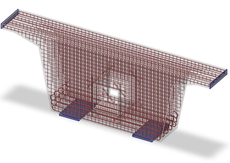 Betonwand berekenen met gaten en wapening in IDEA Detail
