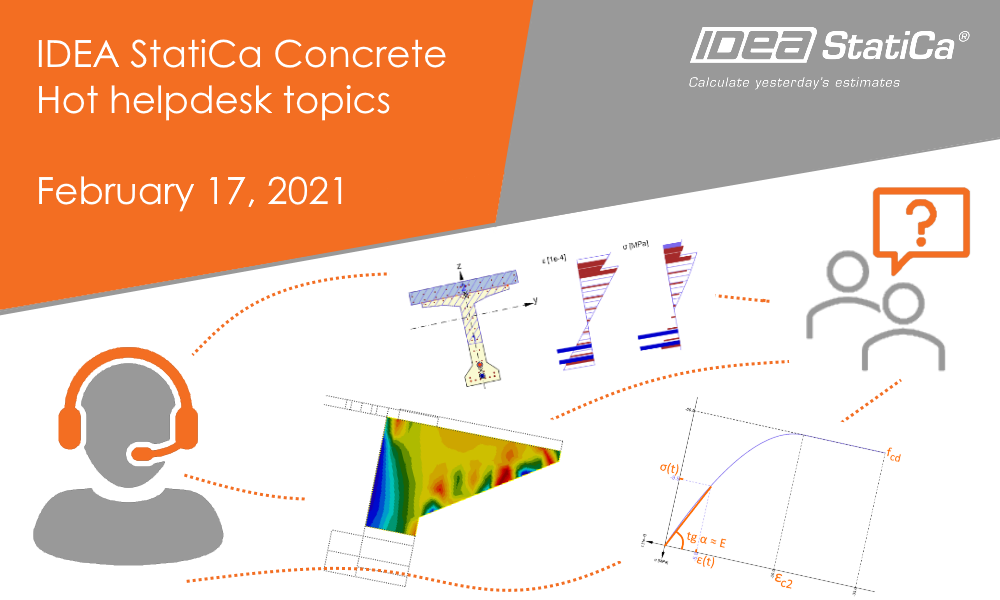 IDEA StatiCa Concrete - Hot helpdesk topics