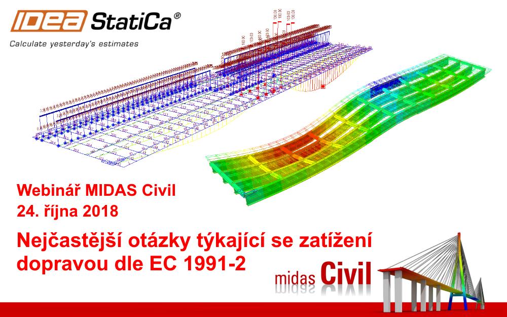 Midas Civil - Nejčastější otázky týkající se zatížení dopravou dle EC 1991-2