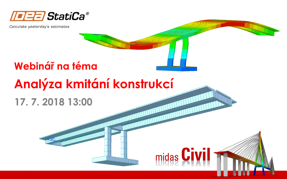 Midas Civil – Analýza kmitání konstrukcí