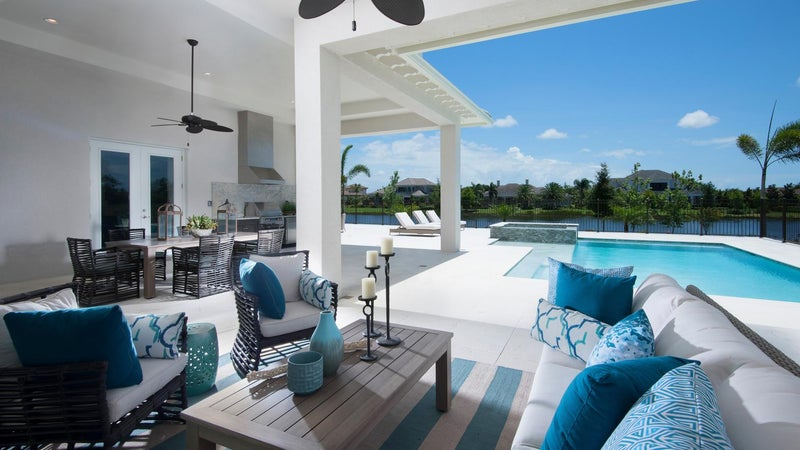 Outdoor Living at The Montclair by STOCK Signature Homes at The Lake Club in Lakewood Ranch Florida