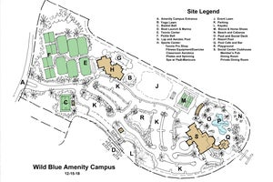 Conceptual Site Map for the Amenity Campus at WildBlue in Estero Florida