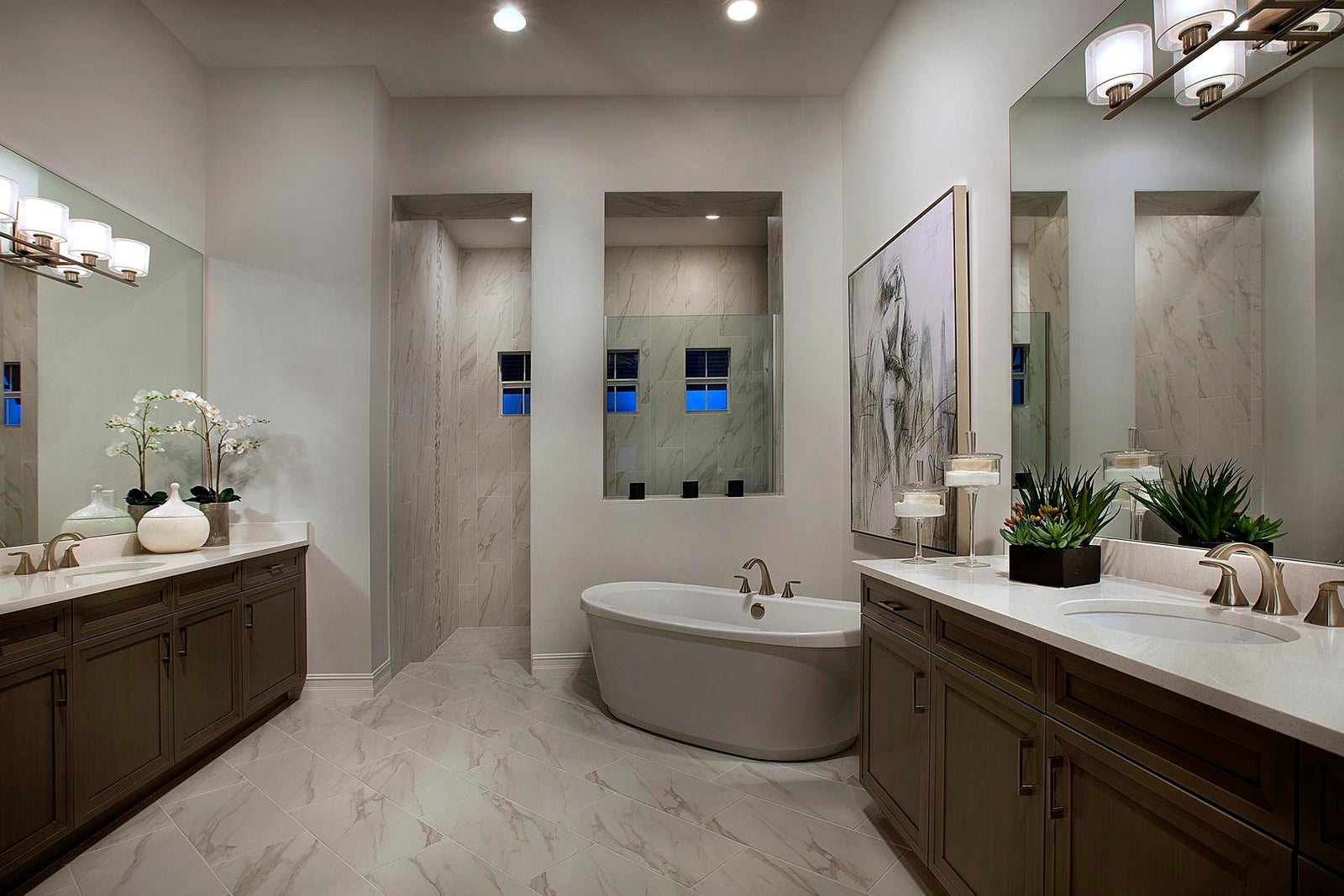 The Mater Bathroom of The Muirfield III by STOCK Signature Homes at Naples Reserve in Naples Florida