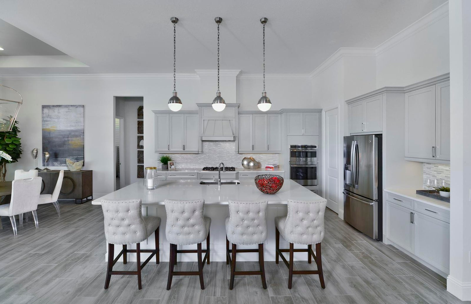 The Kitchen of the Madison II Model at Fiddler's Creek in Naples Florida