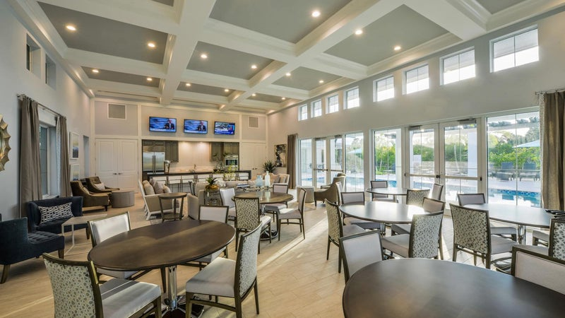 Community Room at The Clubhouse of Hidden Harbor in Fort Myers Florida