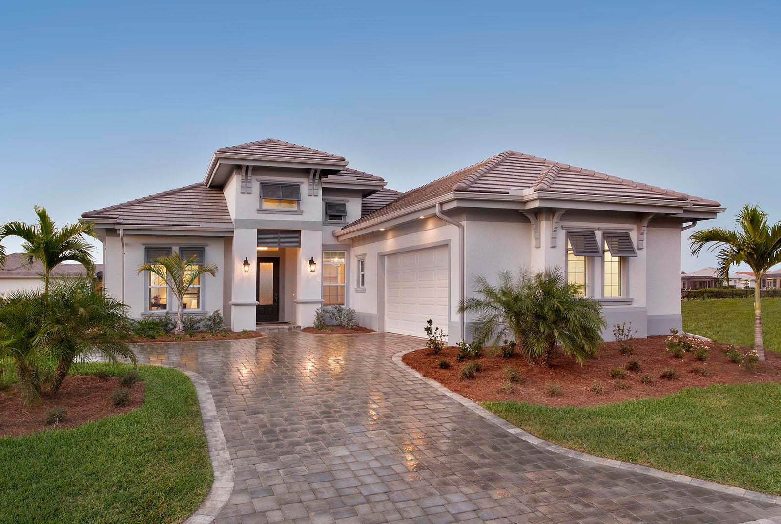 The Ruffino by STOCK Signature Homes at Hidden Harbor in Fort Myers Florida (Elevation D)