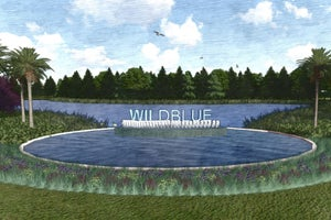 Rendering of the Entry Monument at WildBlue in Estero Florida