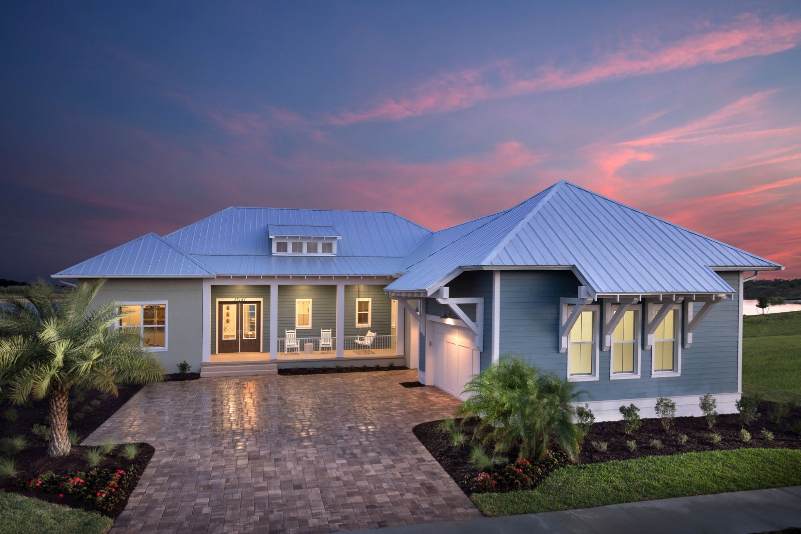 The Crystal by STOCK Classic Homes at Babcock Ranch in Fort Myers Florida (Elevation B)