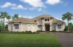 The Burlington (Elevation A) by STOCK Signature Homes at WildBlue in Estero Florida