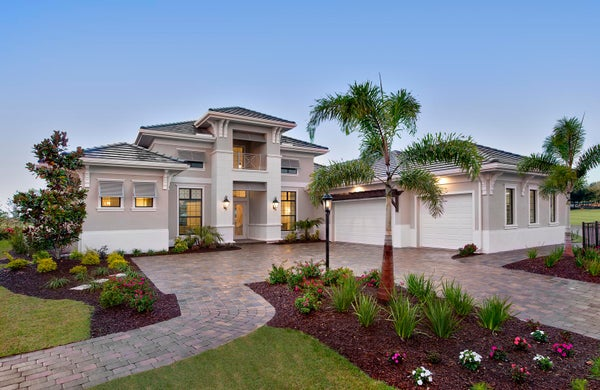 The Margo by STOCK Signature Homes at Esplanade in Lakewood Ranch Florida (Elevation A)