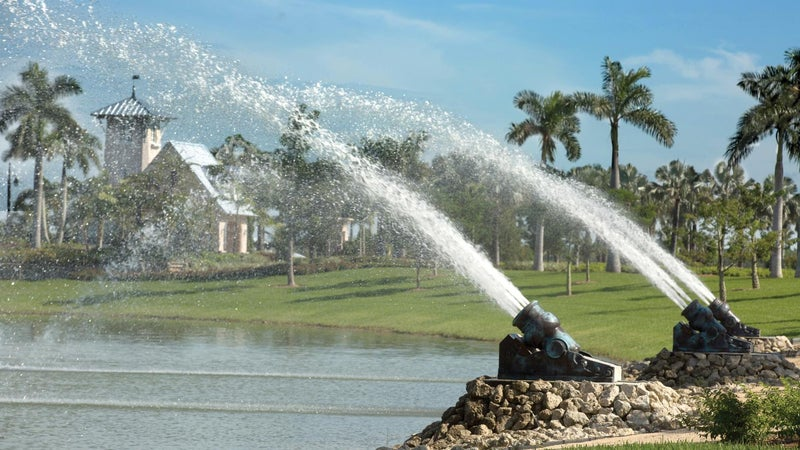 The Water Cannons at the entrance to Naples Reserve