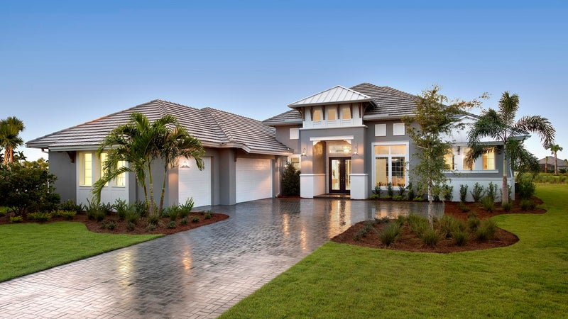 The Cocoplum by STOCK Signature Homes at The Isles of Collier Preserve in Naples Florida (Elevation D)