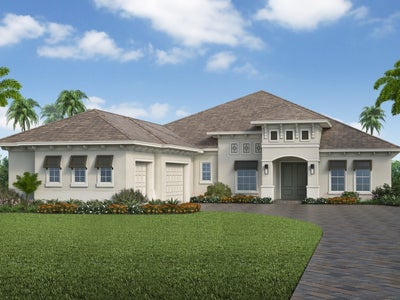 The Sterling (Elevation A) by STOCK Signature Homes at WildBlue in Estero Florida