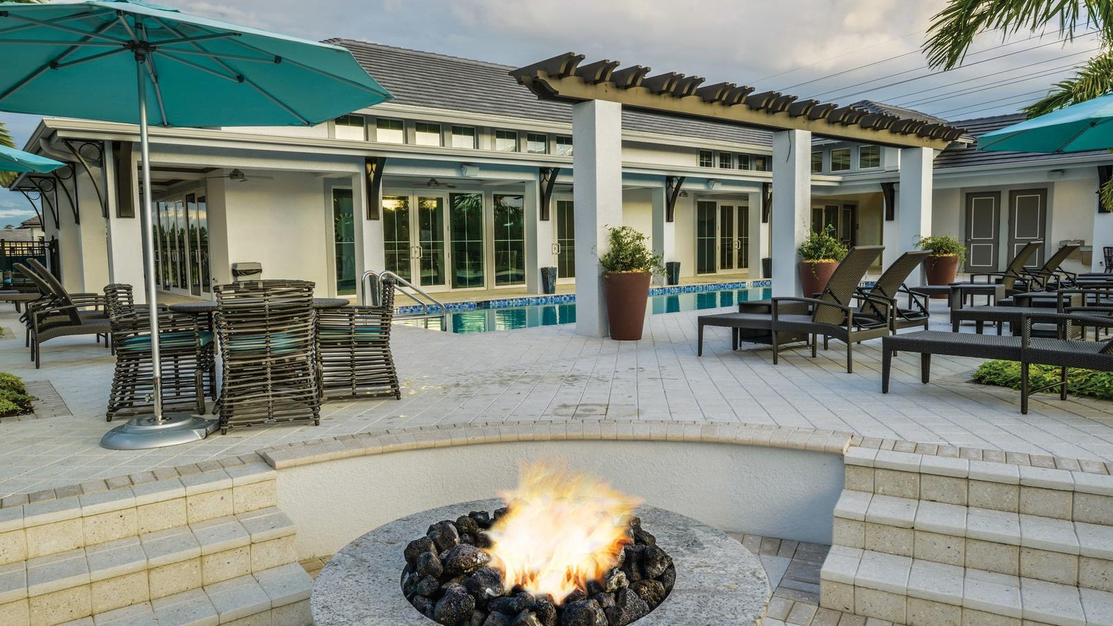 Fire Pit at The Clubhouse of Hidden Harbor in Fort Myers Florida