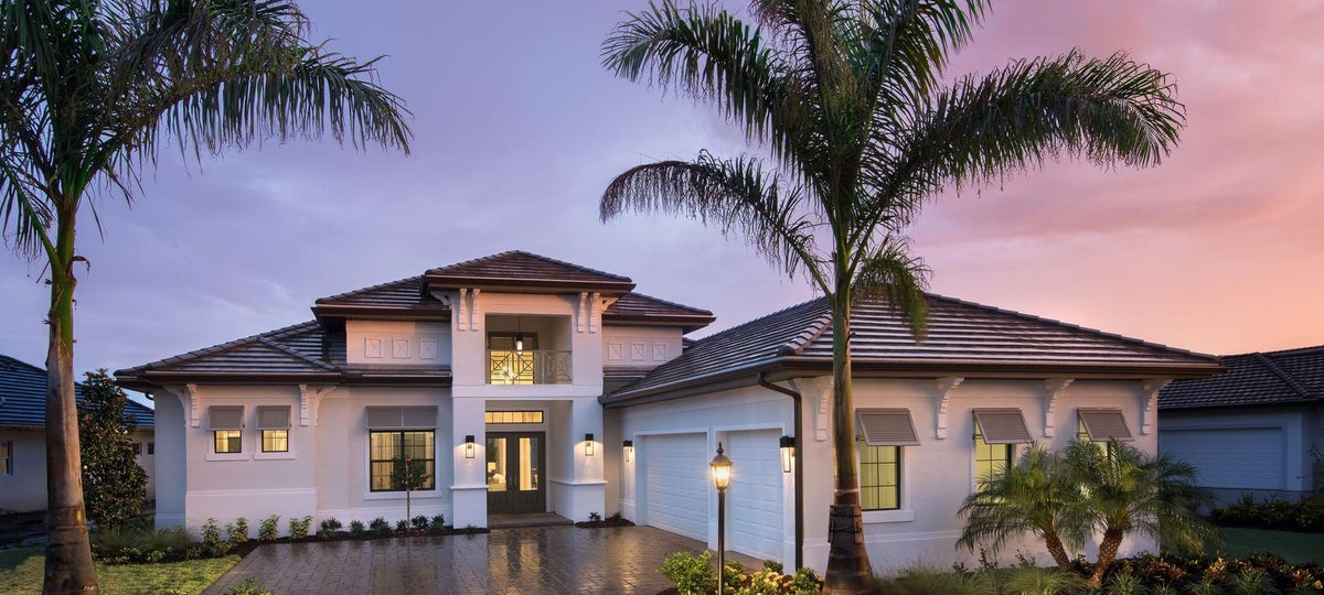 The Madison II by STOCK Signature Homes at Country Club East in Lakewood Ranch Florida (Elevation A)