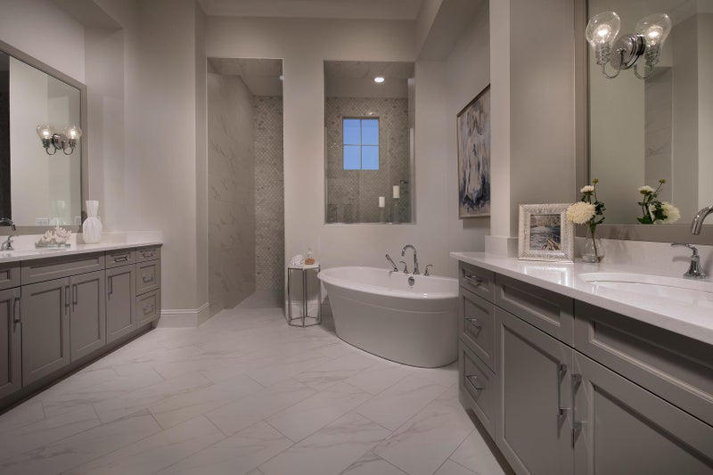 The Master Bathroom of The Marigold by STOCK Signature Homes at The Isles of Collier Preserve in Naples Florida