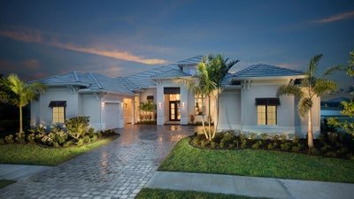 The Wyndam (Elevation A) by STOCK Signature Homes at TwinEagles in Naples Florida