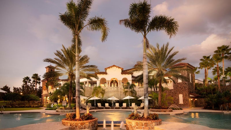 The Grande Clubhouse at the Lake Club in Lakewood Ranch Florida