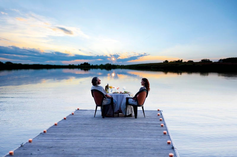 Dock Dining at WildBlue in Estero Florida