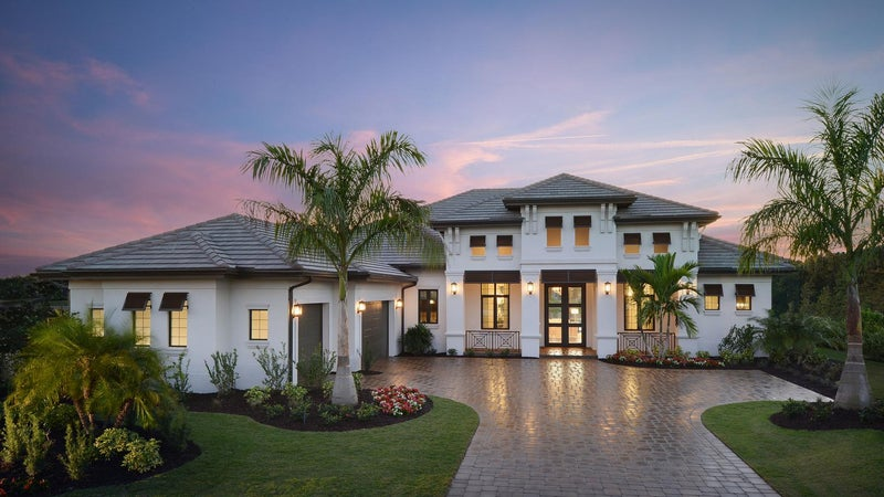 The Stella at Quail West in Naples Florida (Elevation B)