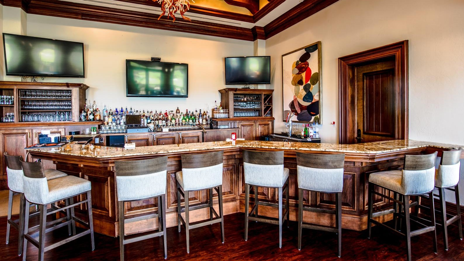 Indoor Bar at The Club at Olde Cypress in Naples Florida