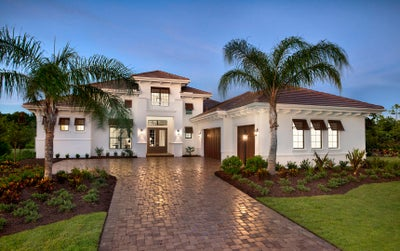 The Gardenia II at Country Club East in Lakewood Ranch Florida (Elevation A)