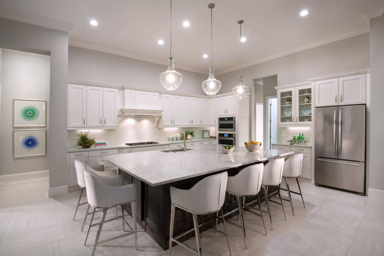 The Kitchen of The Glenmore by STOCK Signature Homes at The Lake Club in Lakewood Ranch Florida