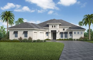 The Covington (Elevation A) by STOCK Signature Homes at WildBlue in Estero Florida