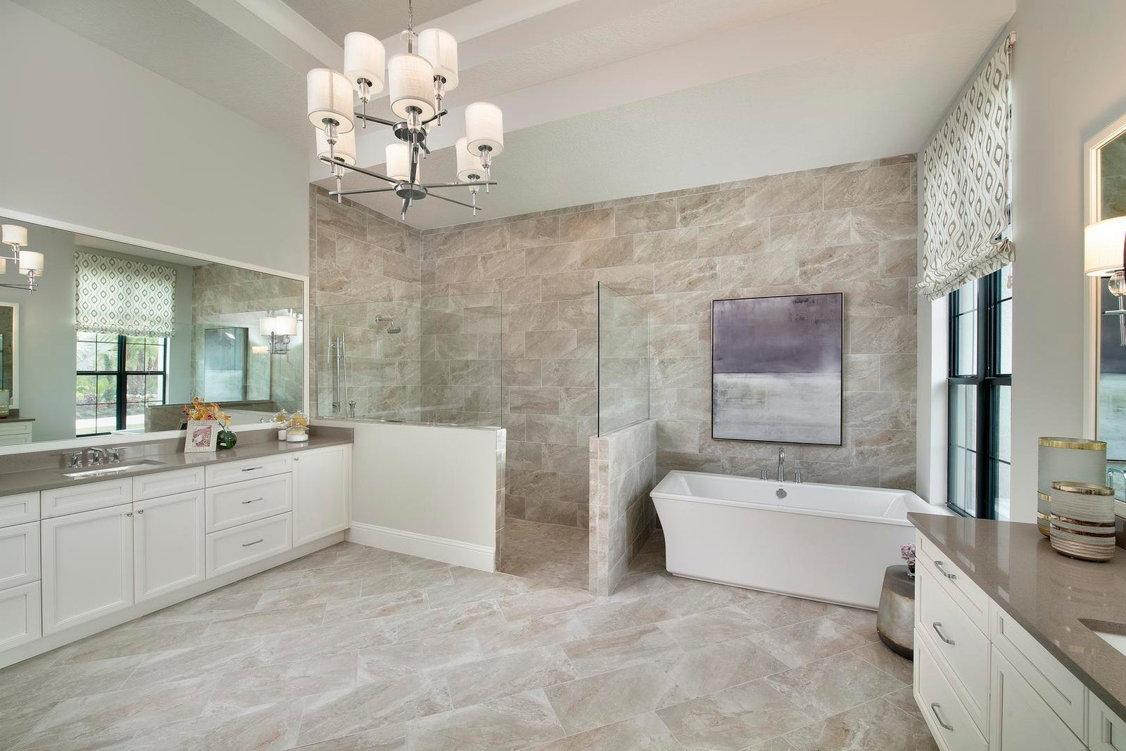 The Master Bathroom of The Clairborne II by STOCK Signature Homes at The Concession Bradenton Florida