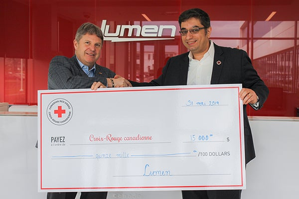 Lumen Raises 15,000$ in Donations for Recent Floods