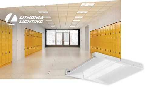 Lithonia Lighting luminaire DEL à lentille centrale pour plafond-T