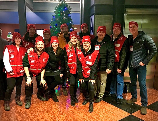 Lighting department volunteering for Operation Red Nose