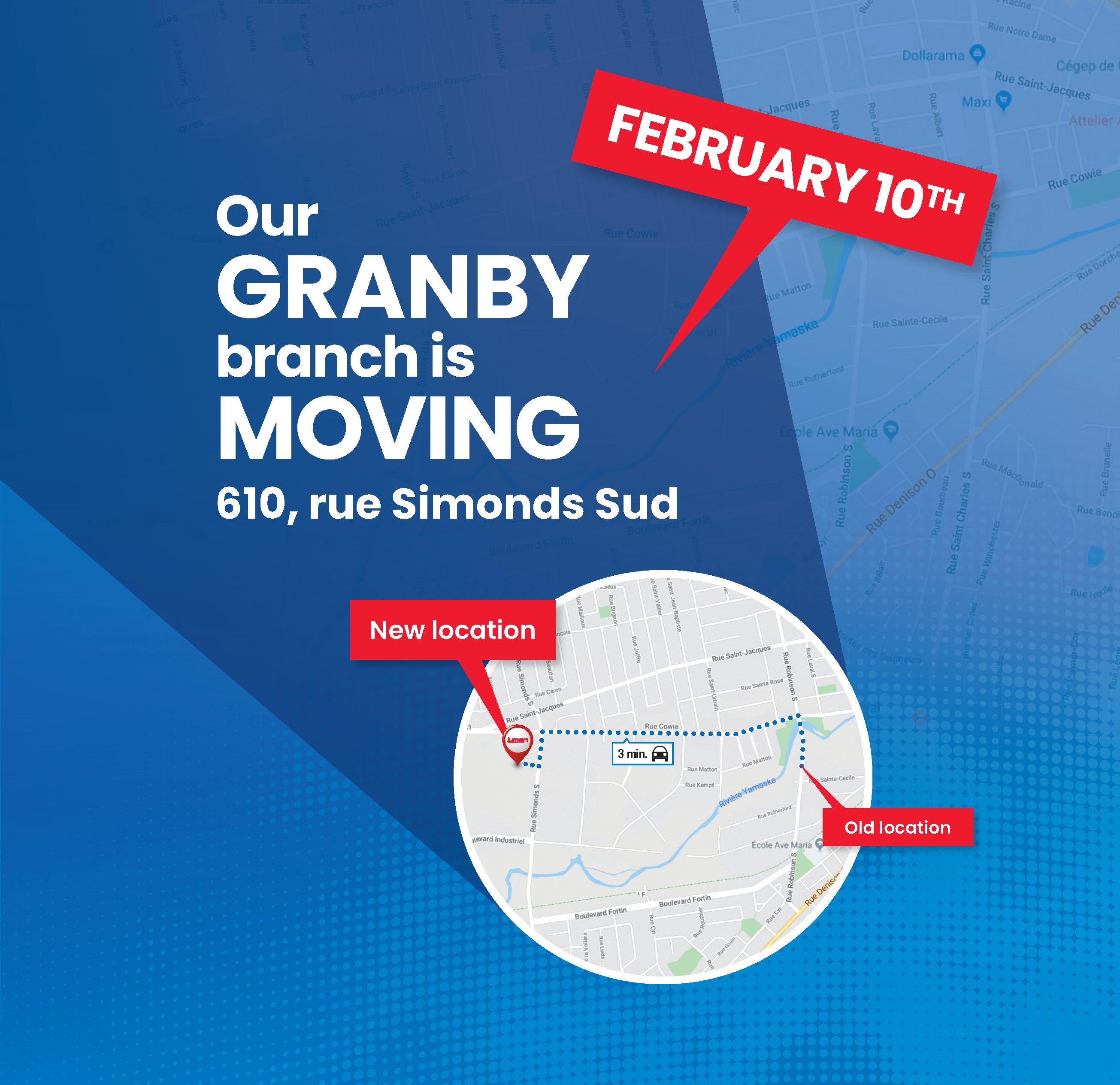 Our Granby branch is moving