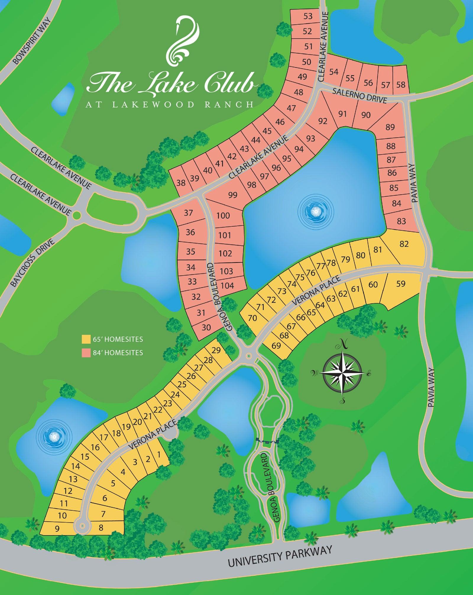 Genoa at The Lake Club / Site Plan