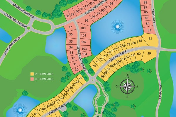 Genoa at The Lake Club / Site Plan