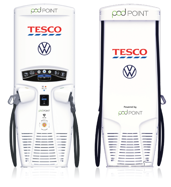 Co-branded Veefil RT - Podpoint, Tesco and Volkswagon.
