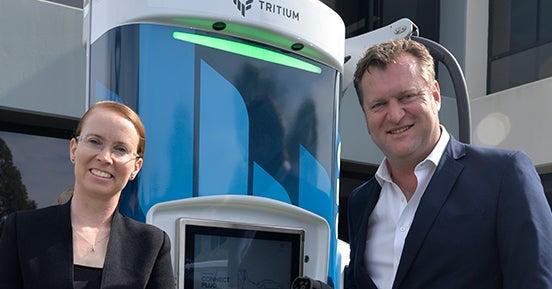 Jane Hunter, the CEO of Tritium and David Toomey, Tritium's Head of Corporate Development.