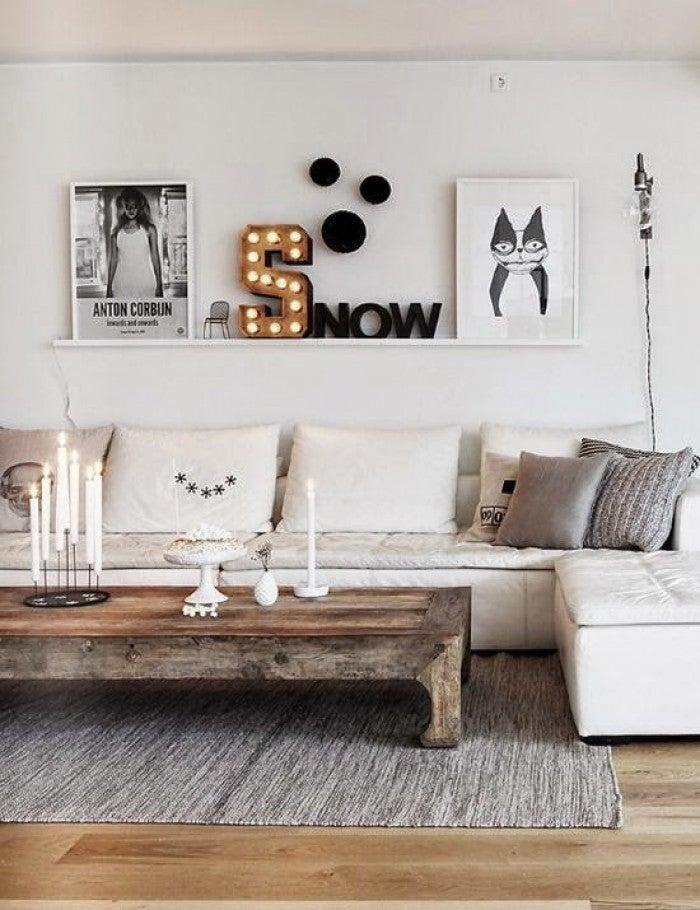 met wit zwart en grijs kom je al een heel eind en hoewel een witte muur altijd een goede en veilige keuze is kan het ook mooi zijn om je kleurenpatroon