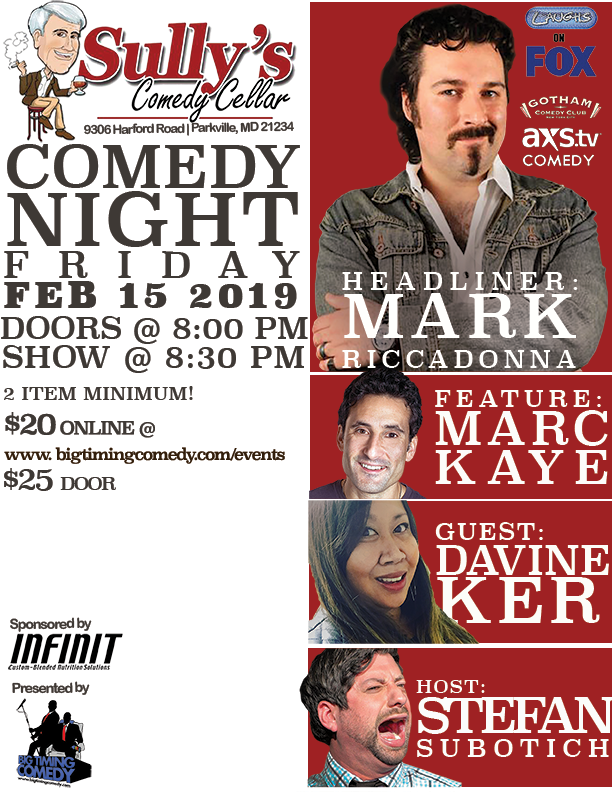 Sully S Valentine S Day Comedy Show With Mark Riccadonna Big