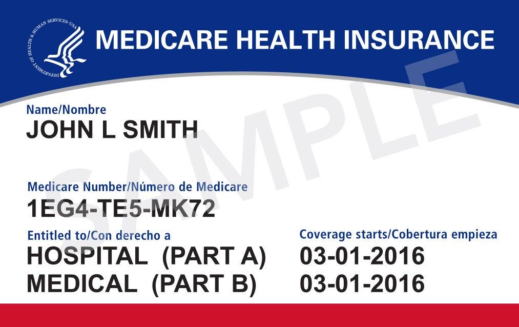 Medicare Health Insurance Card - Sample