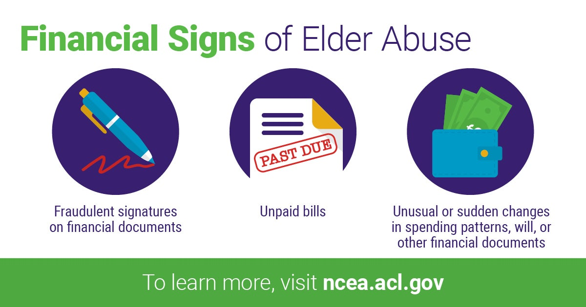 Financial Signs of Elder Abuse from NCEA