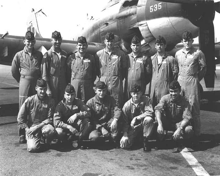 Photo of combat flight crew in Vietnam